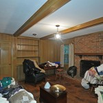 450 16 Before Brick Fireplace Exposed Beams 2