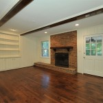 FA05 After Brick Fireplace Exposed Beams2